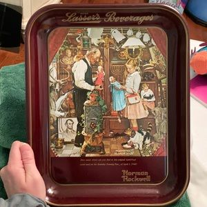 Norman Rockwell April Fools Day 1976 tray